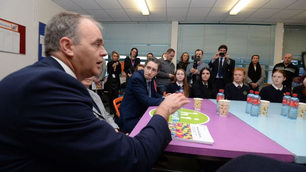 "Minister for Education Joe McHugh (pictured left) ""must at last exert some influence over our taxpayer-funded schools by ending the systematic religious segregation and discrimination that has been allowed to fester for far too long"". File photograph: Alan Betson"