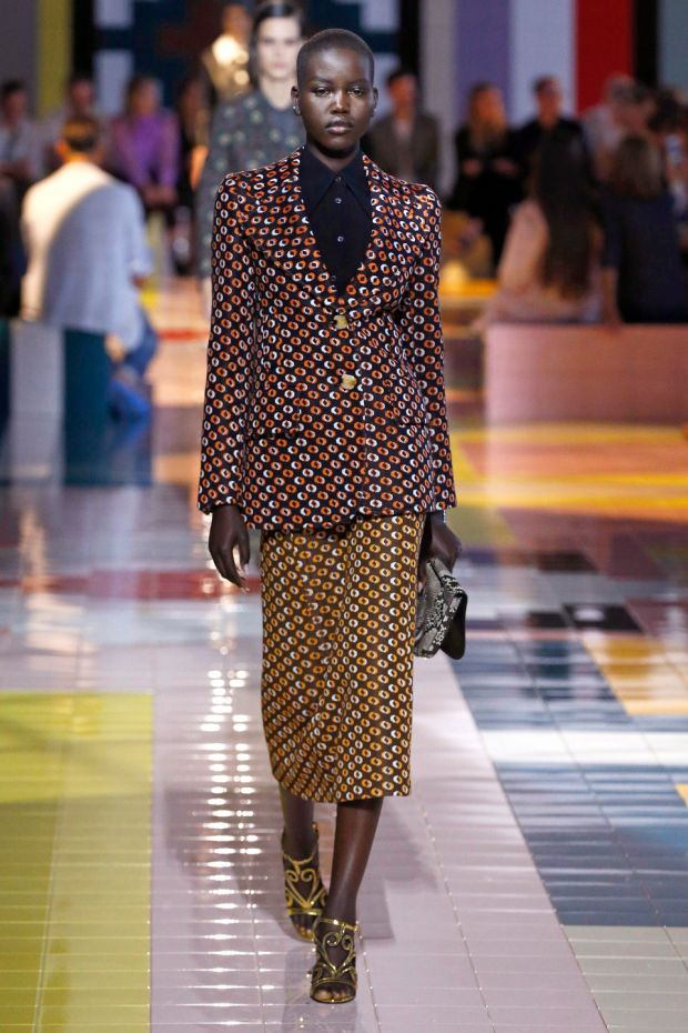 Sixties wallpaper prints in Prada's Spring 2020 collection