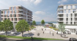 An  image of the proposed development at the former Techrete site in Howth,  Co Dublin. Image: courtesy Marlet.
