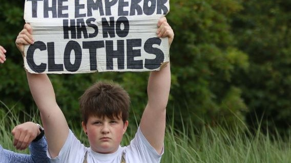 Saoi O'Connor, who has been protesting outside Cork City Hall on Fridays for almost a year. Photograph: Nick Bradshaw