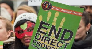 A demonstration calling for an end to the direct provision system. File photograph: Tom Honan