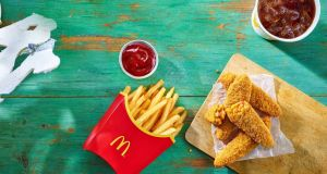 McDonald's Veggie Dippers  will go on sale on January 2nd in both adult meal and Happy Meal sizes. Photograph: Red Consultancy/PA Wire