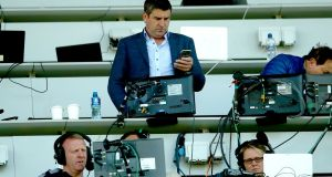 Michael Duignan in Croke Park working for RTÉ during their coverage of last summer's hurling championship. Photograph: James Crombie/Inpho