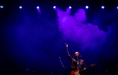 Hozier performing  at his sold-out concert at the 3Arena, Dublin, on Tuesday. Photograph: Tom Honan/The Irish Times