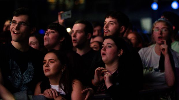 Hozier fans at the 3Arena. Photograph: Tom Honan