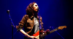 Hozier performing at 3Arena in Dublin. Photograph: Tom Honan
