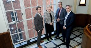 Heather Humphreys, Minister for Innovation; Donnchadh Cullinan, growth capital manager at Enterprise Ireland; Michael Culligan, chief executive of Dublin Business Innovation Centre,  and Richard Watson, managing partner at DBIC Ventures