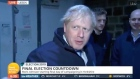 Boris Johnson retreats to fridge to avoid TV reporter