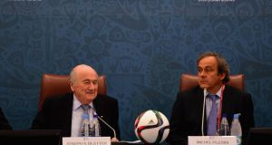 Fifa are set to sue Sepp Blatter and Michel Platini for €2 million. Photograph: Shaun Botterill/Getty