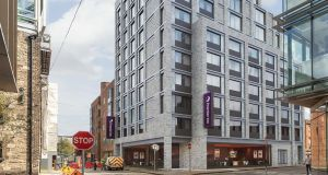 An artist's impression of the proposed Premier Inn hotel on Gloucester Street in Dublin's south docklands.