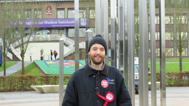 "Labour student member George Winter: ""I sympathise with tactical voters, but here, there were 30 votes in the difference."" Photograph: Jennifer O'Connell"