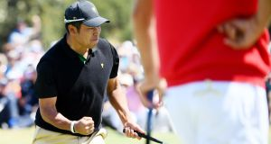 Japan's Hideki Matsuyama helped the Internatioanls into a 4-1 Presidents Cup lead. Photograph: Quinn Rooney/Getty