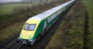 Irish Rail said at least one horse was seriously injured and veterinary support has been requested.
