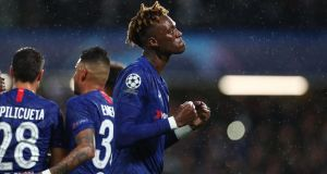Tammy Abraham's Chelsea are into the last-16 of the Champions League. Photograph: Clive Rose/Getty