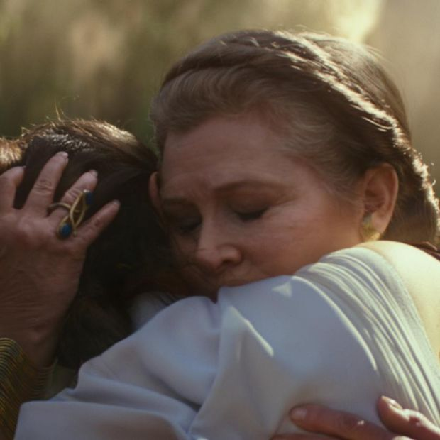 Carrie Fisher and Daisy Ridley