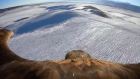An eagle's eye view of Kazakhstan's snowy mountains