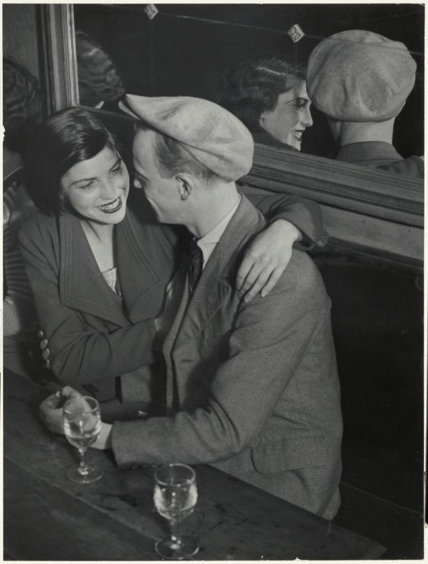 Brassaï's Couple au bal musette des Quatre-Saisons, Rue de Lappe, 1932. Gelatin silver print Bank of America Collection. © Estate of Brassai – RMN Grand Palais