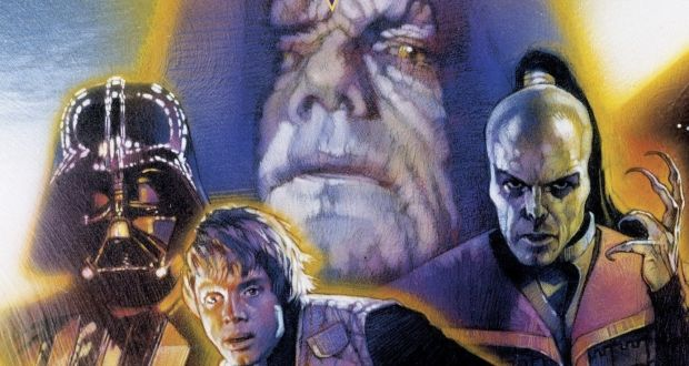 A detail of the cover of Shadows of the Empire, by Steve Perry
