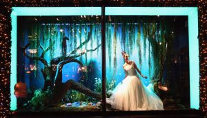 Christmas window in Harrods,   London, 2012. Photograph:  Oli Scarff/Getty Images