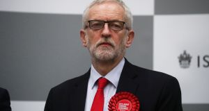 Britain's opposition Labour Party leaderJeremy Corbyn. There is now likely to be pressure on the Labour leader to set out a specific plan for stepping down. Photograph: Hannah McKay/Reuters