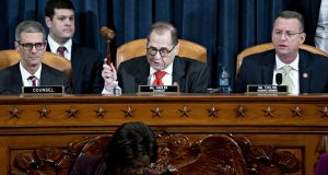 The Judiciary Committee delayed voting on articles of impeachment against US president Donald Trump until Friday morning. Photographer: Andrew Harrer/Bloomberg
