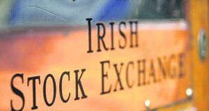 The Iseq index, which surged as much as 3.6%  to a 12-year high of 7,329.18, ended the session 1.6%  ahead. Photograph: Dara Mac Dónaill