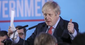 """It does look as though this One Nation Conservative government has been given a powerful new mandate to get Brexit done"" – Boris Johnson said. Photographer: Chris Ratcliffe/Bloomberg"
