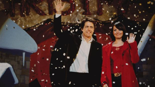 Hugh Grant with Martine McCutcheon in in the perennially popular Love Actually