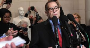 Democratic chairman Jerry Nadler speaks to the press after the House judiciary committee's vote on the articles of impeachment in Washington on Friday. Photograph:  Saul Loeb/AFP via Getty Images