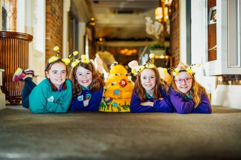 Aoife Reynolds, Ailbhe Curran, Andrea Barry and Siofra Quinn of Knochanean National School, Ennis, Co Clare, were among the five winners  with the project Bee-Ware at the Intel Mini Scientist Regional final in Shannon, Co Clare. Photograph: Brian Arthur