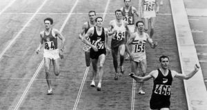New Zealander Peter Snell winning the gold medal in the 1,500 metres at the Tokyo Olympic Games in 1964. Photo: Central Press/Getty Images