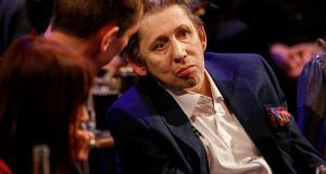Shane MacGowan pictured on The Late Late Show Shane MacGowan and Fairytale of New York special. Photograph: Andres Poveda/RTÉ