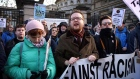 Scuffles break out as opposing protests take place in Dublin