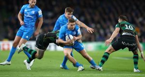Jordan Larmour:  further proof that Ireland should have built their attack around him  in 2019 was evident throughout his stunning performance against Northampton. Photograph:    Michael Steele/Getty Images)