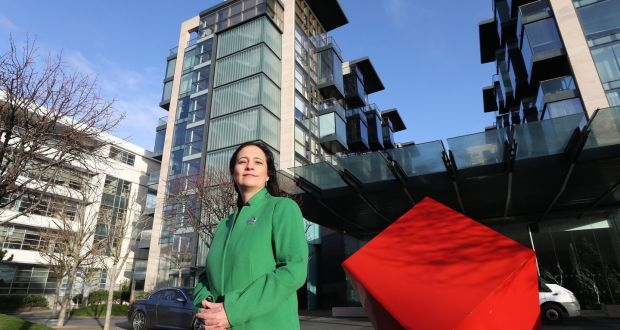 Green Party deputy leader Catherine Martin  at the Beacon South Quarter in Dublin. 'People are fearful of their complex being named and their house values dropping as a result.' Photograph: Nick Bradshaw/The Irish Times