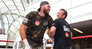 Trainer Ben Davison has been in Tyson Fury's corner for the last two years. Photograph: PA
