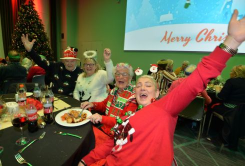 CHRISTMAS CHEER: Local residents enjoy the 18th annual Croke Park Christmas Party for 650 elderly neighbours. Photograph: Alan Betson/The Irish Times