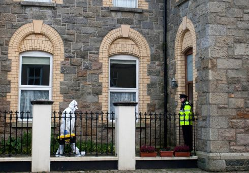 ARKLOW ASSAULT: Gardaí attend the scene of a stabbing of a woman at St Mary's Court, Arklow, Co Wicklow. Photograph: Garry O'Neill