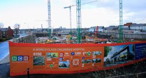 The national children's hospital project has been plagued by controversy, particularly after The Irish Times revealed massive cost overruns a year ago. File photograph: Gareth Chaney/Collins.