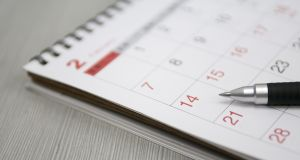 Keep note of all important dates in the 2020 college application process. Photograph: iStock