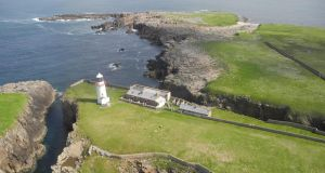 Top of the props: Rathlin O'Birne Island, whose sale includes two lighthouse keeper's cottages but not the lighthouse