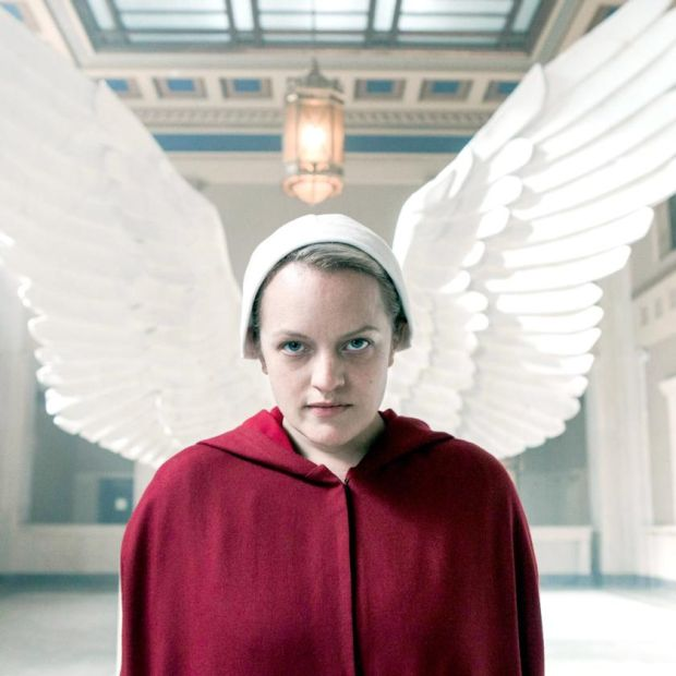 Elisabeth Moss in the television adaption of The Handmaid's Tale
