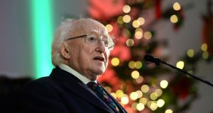President Michael D. Higgins: in general, legislation really doesn't get through the Dáil and Seanad any quicker than two and a half months before being presented for the President's signature.  Photograph: Dara Mac Dónaill