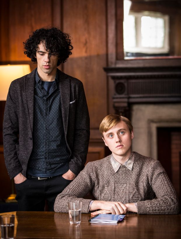 Dermot Murphy and Jacob McCarthy in The Drummer and the Keeper