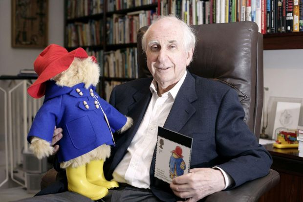 The late Michael Bond with Paddington in 2006. Photograph: Edmond Terakopian/PA Wire