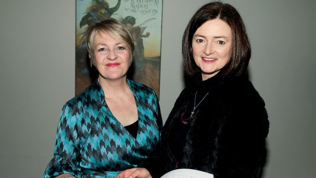 Róisín Maher, artistic director of Finding A Voice and Anne-Marie O'Farrell, harpist and composer, at the programme launch of Finding a Voice festival, which will take place in Tipperary. Photograph: Maxwell