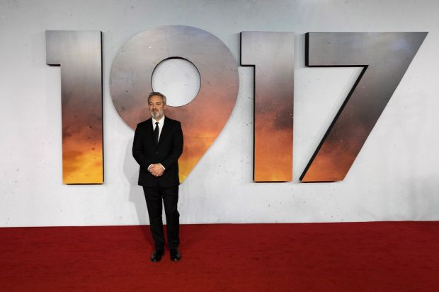 Sam Mendes: 'I feel an obligation to acknowledge the generation that served in that war. My grandfather was one who was lucky enough to survive.' Photograph: Vickie Flores/EPA
