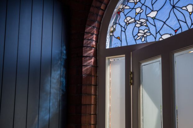 Frontdoor details at the Skerries house renovated by de Siún Architects. Photograph: Ste Murray