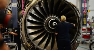 Lufthansa  employs more than 750 people in Shannon, Co Clare, where it overhauls aircraft and maintains engine parts. Photograph: Patrik Stollarz/AFP/Getty