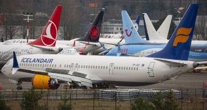 Boeing plans to halt production of its grounded 737 Max in January. Photograph: Bloomberg